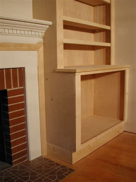 Picture of how to build cupboard beside fireplace   How to