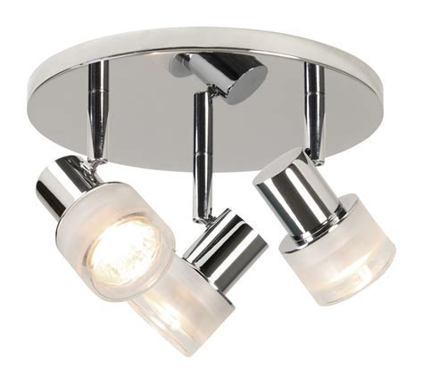 Chrome With Frosted Glass 35W GU10 IP44 Double Insulated