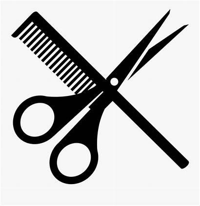Scissors Barber Comb Svg Clip Clipart Background