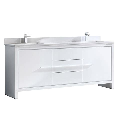 stacked kitchen cabinets allier 72 quot white modern sink bathroom cabinet w 2457