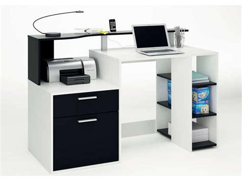 bureau pour ado gar n bureau oracle coloris blanc noir vente de bureau