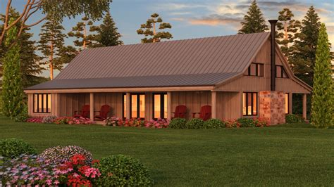 Bedroom Cottage, Barn Style House Plans Rustic Barn Style