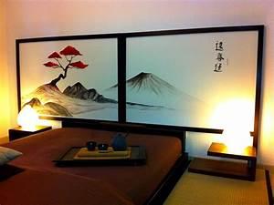 Tete De Lit Zen : kyoto zen hayashi cr ation inspiration du japon ~ Teatrodelosmanantiales.com Idées de Décoration