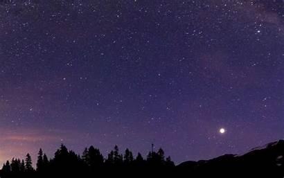 Sky Stars Night Moon Natural Scenery Sleep