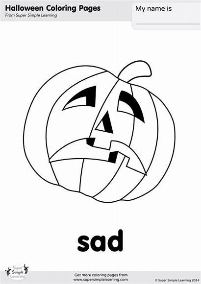 Sad Coloring Happy Face Jack Lantern Supersimplelearning