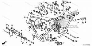 Honda Motorcycle 2003 Oem Parts Diagram For Frame