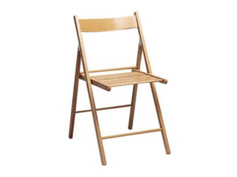 chaise pliante en h 234 tre massif sven coloris teint 233 clair