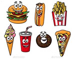 Cute Cartoon Food with Faces