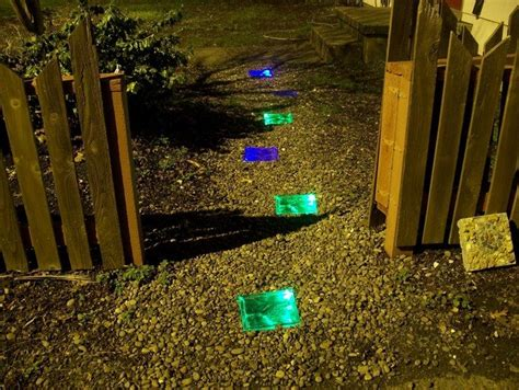how to make solar powered stepping stones diy projects