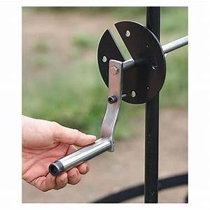 Camp Fire Turn Spit Stainless Steel Bbq Manual Handel For