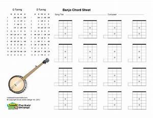 Banjo Printable  Blank Chord Boxes