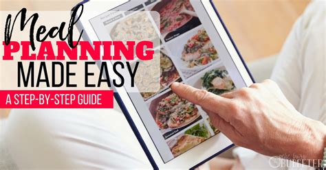 meal planning made easy a step by step guide busy budgeter