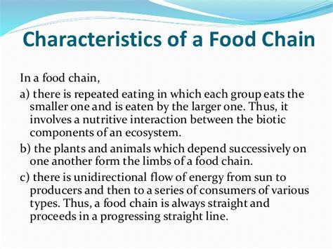 characteristics of cuisine food chain