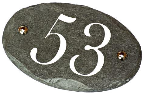 slate phone number oval slate number plaque 18x12cm