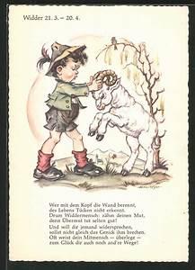 Widder Und Widder : k nstler ak sternzeichen widder kleiner junge streitet mit jungem widder spruch nr 6863865 ~ Orissabook.com Haus und Dekorationen