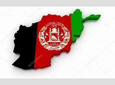 Afghanistan flagga karta — Stockfotografi © vicza #91776174