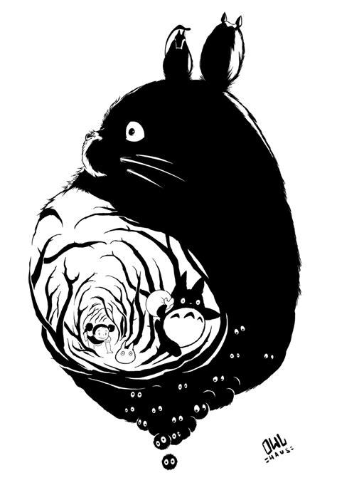 Black And White Totoro Wallpaper  wwwimgkidcom The