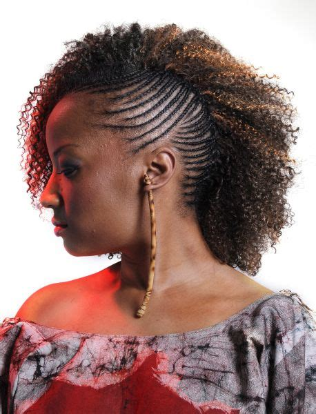 Cornrows And Curls Hairstyles by One Side Cornrows Braided Hairstyle Black