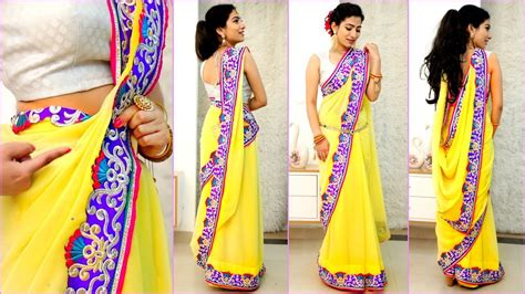 How To Drape Saree Perfectly - 4 new saree draping styles how to wear sari perfectly to
