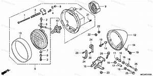 Honda Motorcycle 2005 Oem Parts Diagram For Headlight