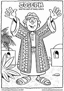 bible coloring pages joseph - joseph and his coat coloring for sunday school church