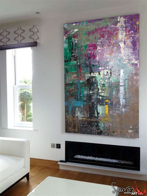 gerhard richter inspired style abstract art painting  sold