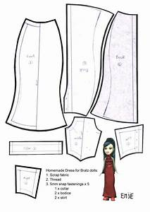 printable wedding dress pattern doll dress patterns for With dress a doll template