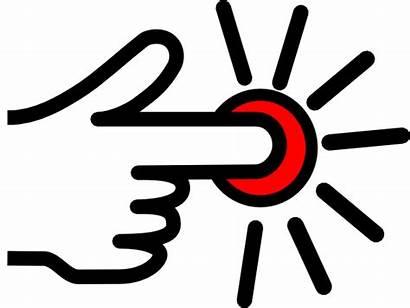 Button Press Clip Clipart Clker Svg Hi