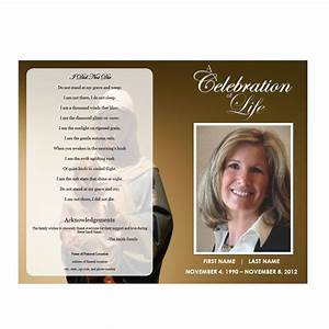Virgin mary funeral program funeral pamphlets for Free celebration of life program template