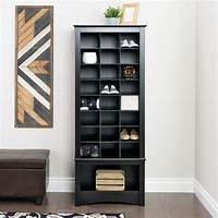 shoe organizer cabinet Prepac Black Tall Shoe Cubbie Cabinet | The Home Depot Canada