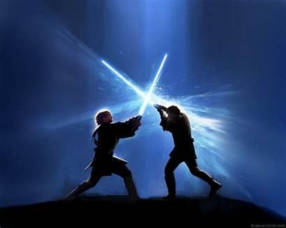 Wars Star Wallpapers Anakin Wan Obi Battle