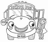 Bus Coloring Pages Cartoon Animated sketch template