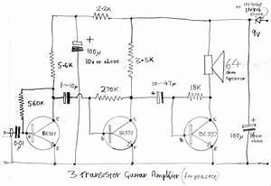 Transistor Practice Amp Schematics