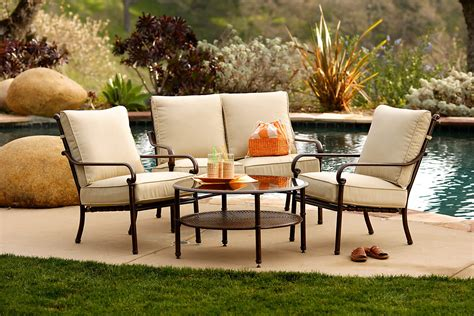 Outdoor benches are a great option and can seat multiple people. HD Designs Patio Furniture - TheyDesign.net - TheyDesign.net