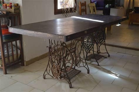 grande table de cuisine console valise outillage vintage industriel grande table de cuisine recuperation meuble et