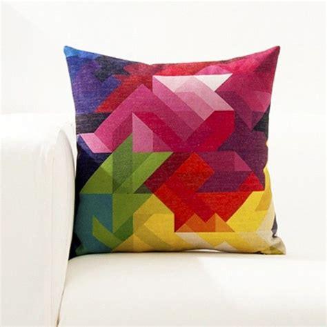 bright color geometry cushion cover  ideas   house cushions modern cushion covers