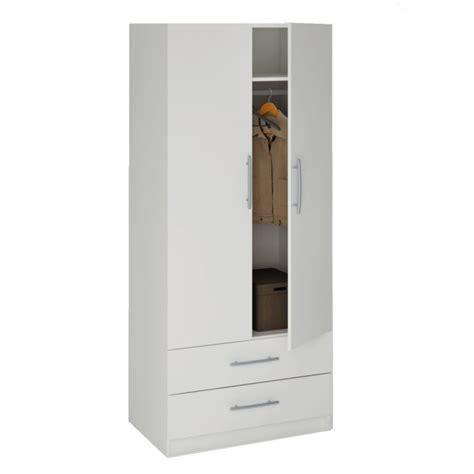 washington armoire 2 portes 2 tiroirs blanc achat