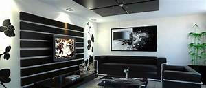 20 modern contemporary black and white living rooms home for Tapis chambre bébé avec ice watch blanche fleurs