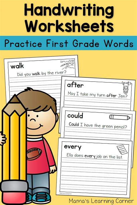 handwriting worksheets for dolch grade words