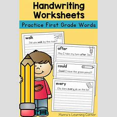 Handwriting Worksheets For Kids Dolch First Grade Words  Mamas Learning Corner