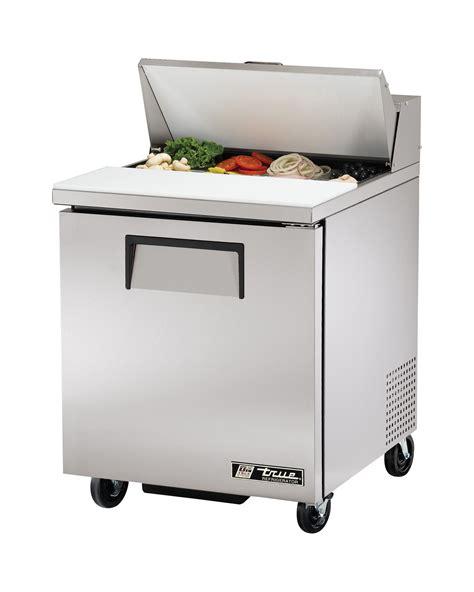 true refrigerated sandwich prep table true tssu 27 08 hc sandwich salad prep table 1 solid door