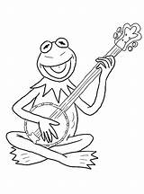 Banjo Coloring Printable Pages Guitar Frog Playing Kermit Getdrawings Getcolorings Categories Instrument Elect Coloringonly Strings Aeolian sketch template