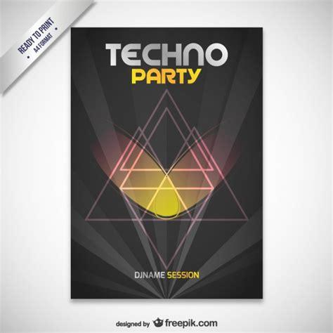techno party plakat  der kostenlosen vektor