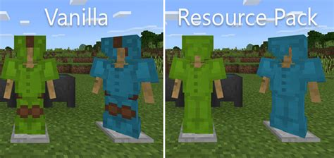 Better Leather Armor Resource Pack Minecraft Pe Texture