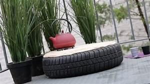 un pneu se metamorphose en pouf video sur decofr m6 With lovely idee pour jardin exterieur 17 decoration salle de bain et wc