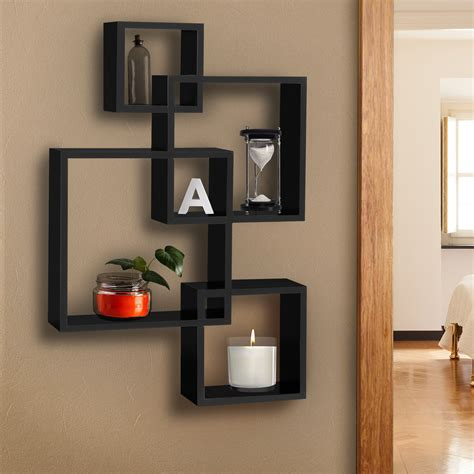 home interior items bcp intersecting squares floating shelf wall mounted home