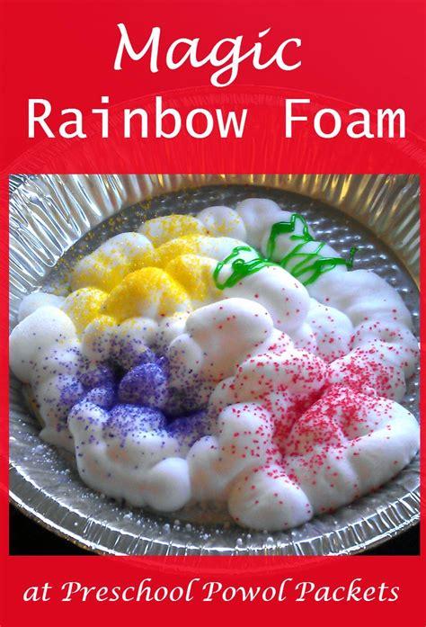 magic rainbow foam preschool sensory science experiment 965 | rainbow foam 5