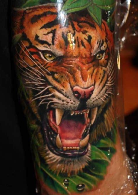 3d tier tattoos 3d tiger motive tattooed tattoos