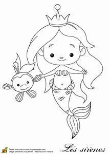Comment Dessiner La Mer : coloriage petite sirene et son copain poisson sur ~ Dallasstarsshop.com Idées de Décoration
