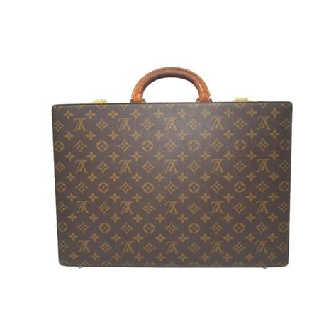 louis vuitton monogram briefcase brown canvas laptop bag